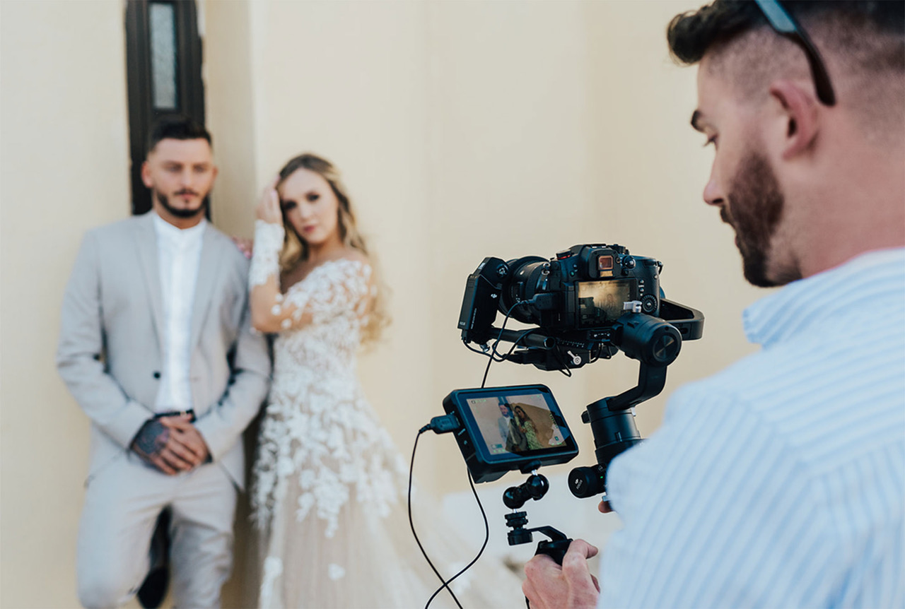 Behind the scenes with Russell Kent Nicholls cinematic wedding videographer