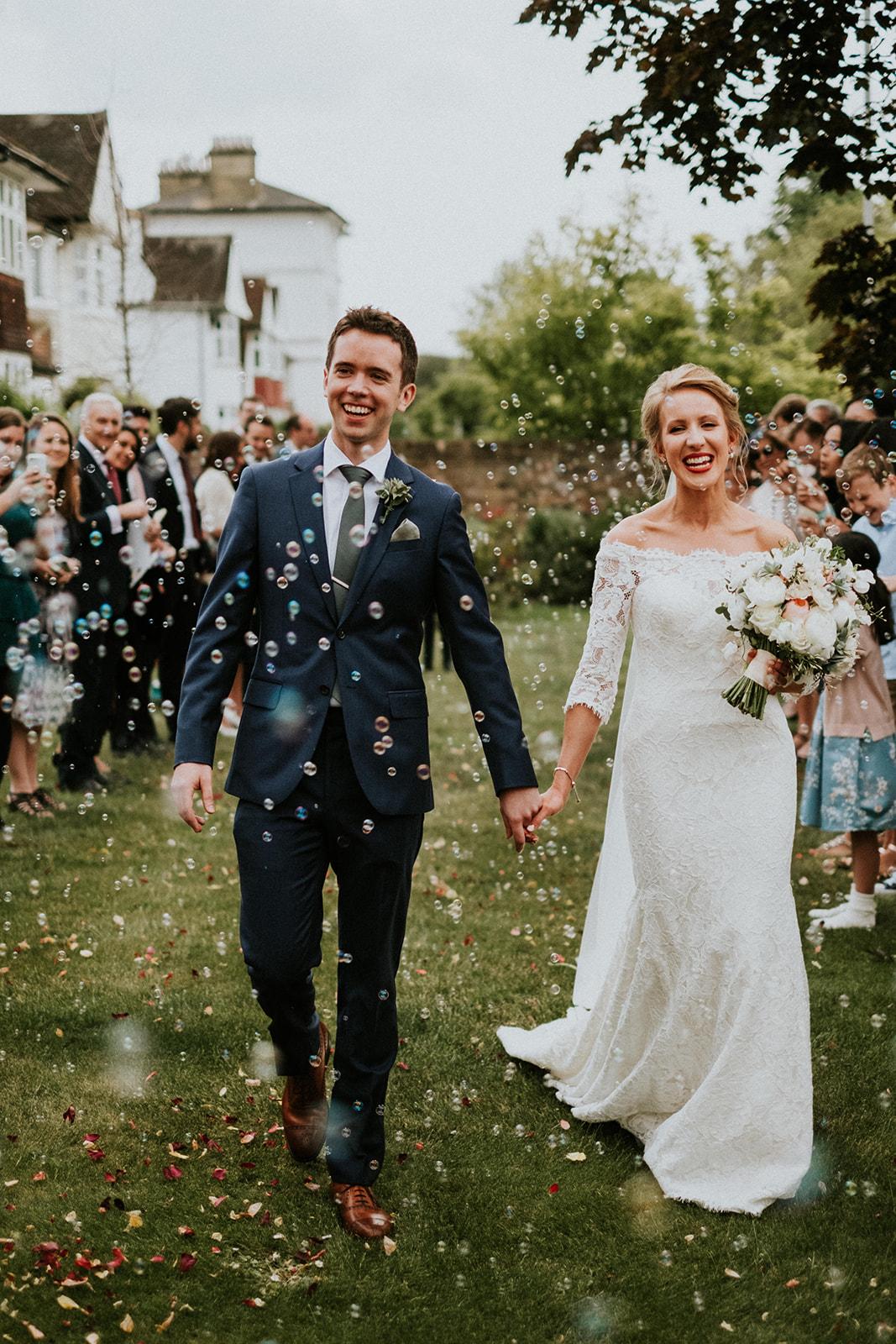 Beautiful summer wedding at Hampton Court House