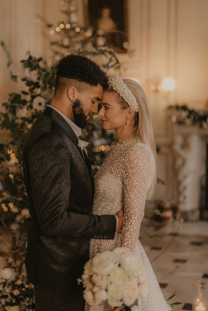 Luxe Winter Wedding Ideas With Sparkly Dresses Wild Florals Candlelight And Modern Bridal Hair Make Up Sugar Plum Bakes
