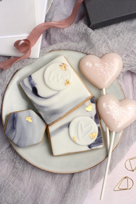 Modern stylish contemporary Valentines Biscuits