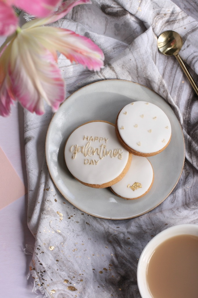 Modern stylish contemporary Galentines Biscuits
