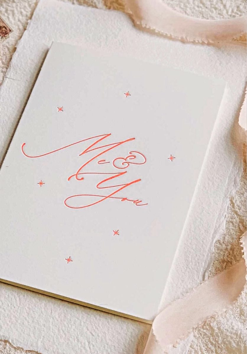 Letterpress Valentines card by Lynda Athey